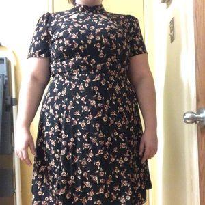 Black vintage floral dress